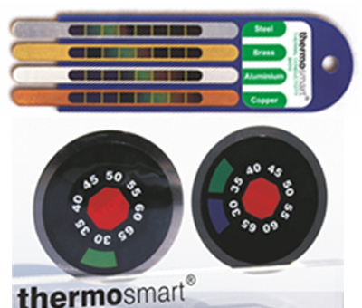 Colour changing temperature indicator for education