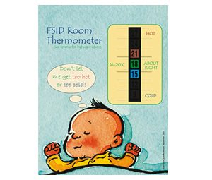 Baby Safety Nursery and Room Thermometer for FSID