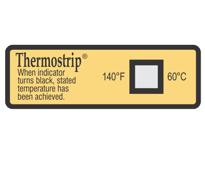 Thermostrip temperature indicators